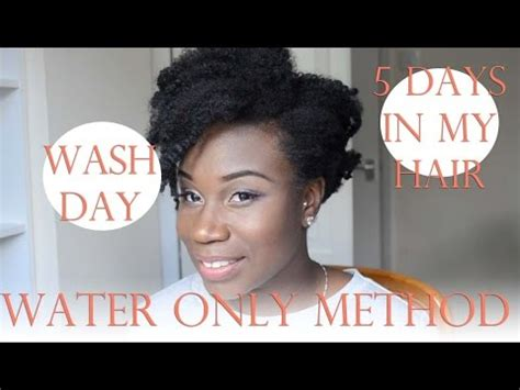 My Wash Day  Water Only Method  5 Days In My 4c Hair