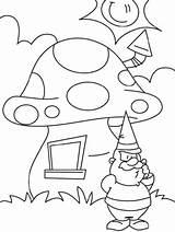 Mushroom Coloring Drawing Fairy Printable Getcolorings Getdrawings sketch template