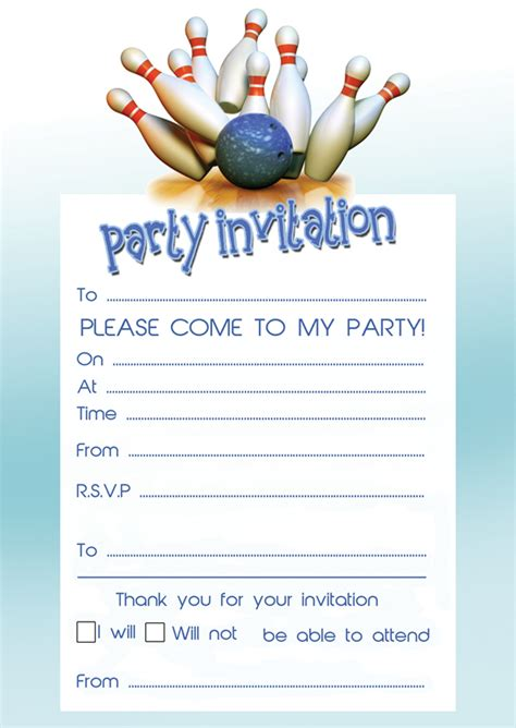 bowling birthday party invitations ideas bagvania