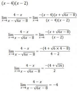 limit fungsi aljabar materi rumus metode contoh soal