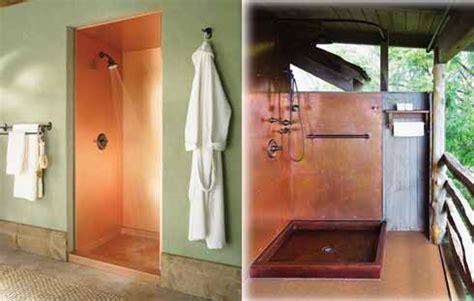 copper shower enclosure pan gutter supply