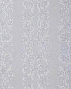 Tapete Muster Grau : edem 829 20 barock streifen tapete damask muster hell grau ~ Michelbontemps.com Haus und Dekorationen