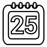 Calendar Icon Transparent 25th Svg Vector Tuesday