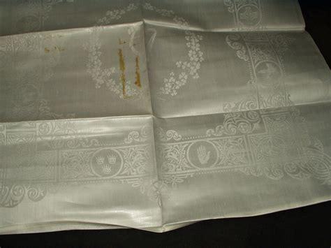 irish damask table linens vintage 1920 shamrock celtic pattern irish double damask