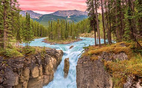 sunrise  jasper national park alberta canada falls