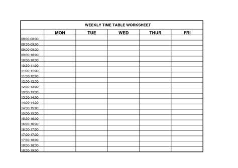 Weekly Time Management Worksheet