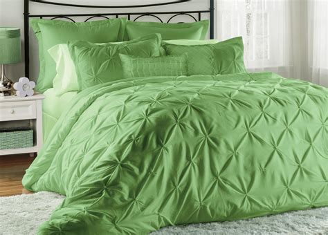 8 piece king lucilla green tea comforter set