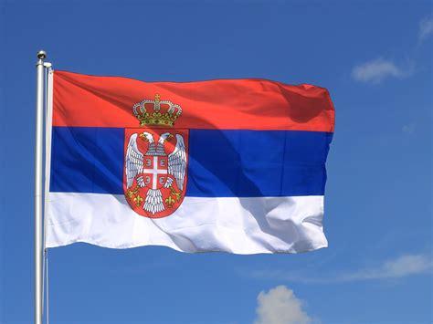 Große Serbien mit Wappen Flagge - 150 x 250 cm ...