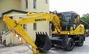Komatsu Pw140-7 Wheeled Excavator Service Shop Repair Manual