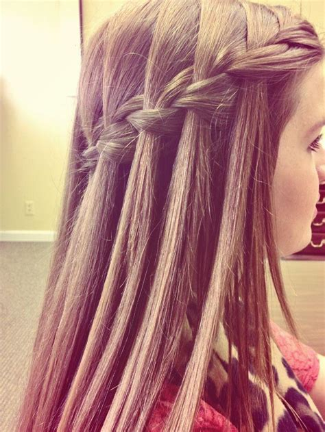 Waterfall Braid Hairstyles How To