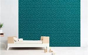 Papier Peint Bleu Canard : papier peint graphique turquoise d co chambre enfant ~ Farleysfitness.com Idées de Décoration