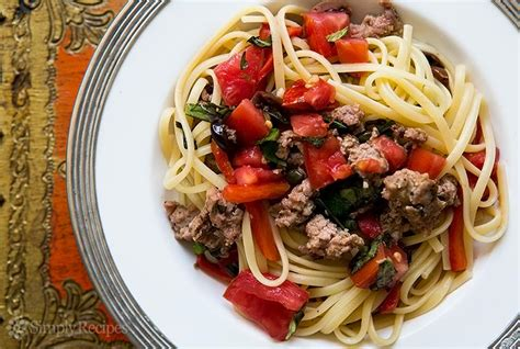 pasta  sausage tomatoes  roasted peppers recipe
