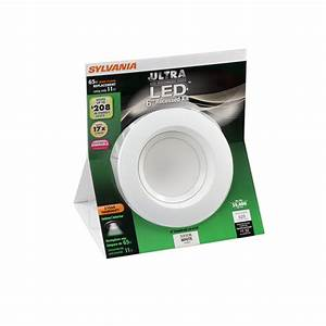 Sylvania white led remodel recessed light kit fits