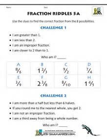 fraction of a number worksheet free printable fraction worksheets fraction riddles harder