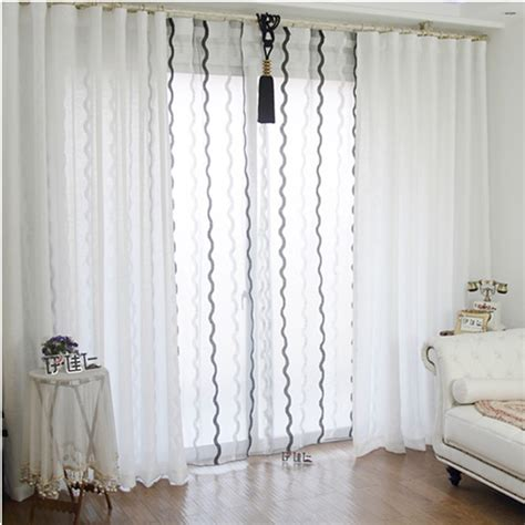 decoration ideas chic white linen and sheer curtains for