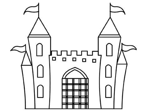 cartoon design disney princess castle coloring pages  kids