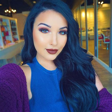 Blue Black Hair Makeup Tutorials Hair Color For Black