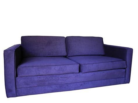 purple settee mid century modern purple velvet sofa settee by charles