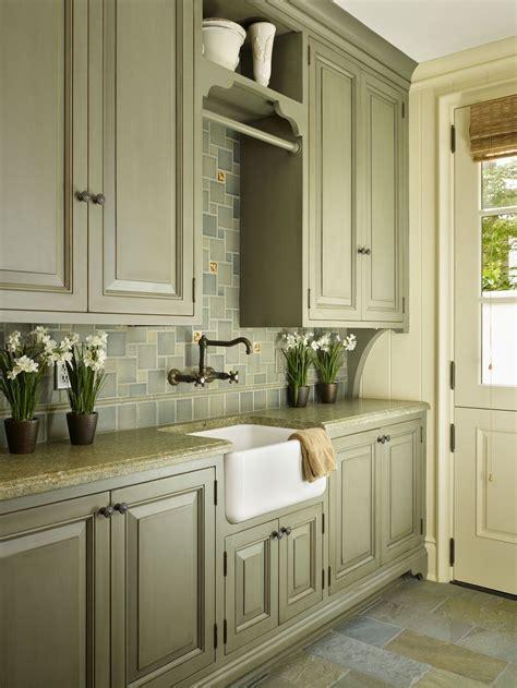 sage green color cabinets   kitchen
