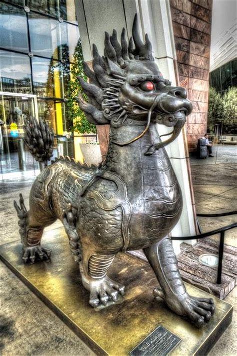 statue   aria casino las vegas dragons pinterest