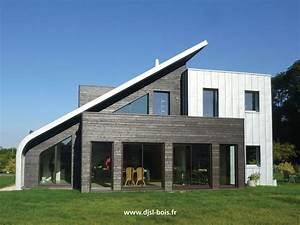 Maison Bois Contemporaine : maison en bois contemporaine bardage bois pinterest maisons en bois bardage et baignoire ~ Preciouscoupons.com Idées de Décoration