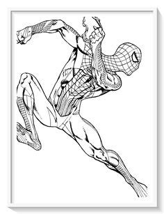 superheroes images coloring pages spiderman