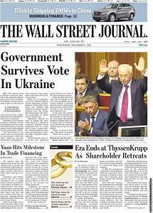 Newspaper The Wall Street Journal - Europe (Europe ...