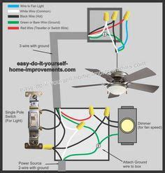 Home Wiring Color Yellow by Ceiling Fan Wiring Diagram 1 For The Home Ceiling Fan