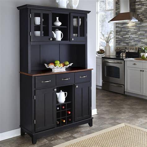 kitchen china cabinets shop home styles black medium cherry rectangular china 3354