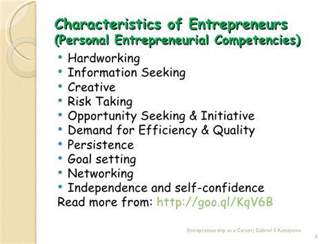 entrepreneurship as a career
