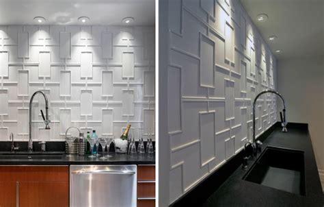 Textured Tile Backsplash : 12 Creative Kitchen Tile Backsplash Ideas