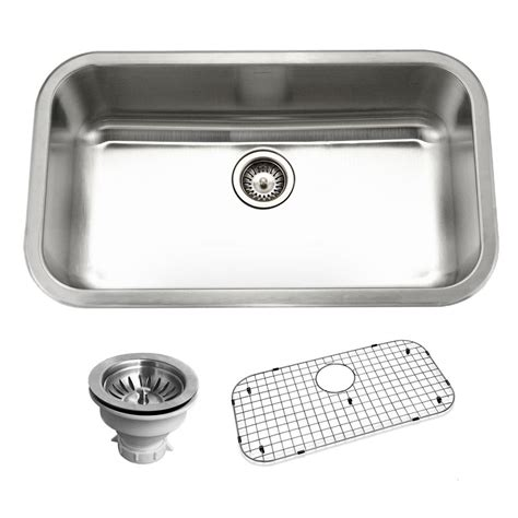 drop in single bowl kitchen sink houzer belleo series drop in 32 in stainless steel single 9624