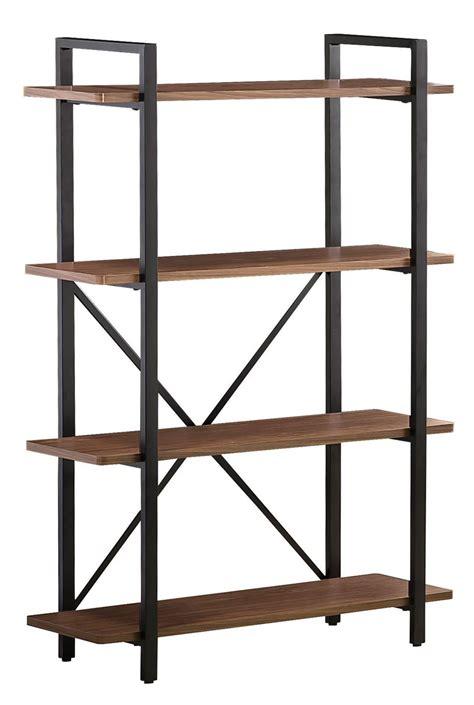metal wood bookshelf 800336 light brown metal frame bookcase from coaster