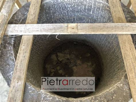 vasca giardino vasca e pozzo in pietra vera per arredo giardino