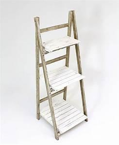 Regal Für Holz : stufen regal shabby 109 cm paulownia holz wohnambiente shop ~ Eleganceandgraceweddings.com Haus und Dekorationen