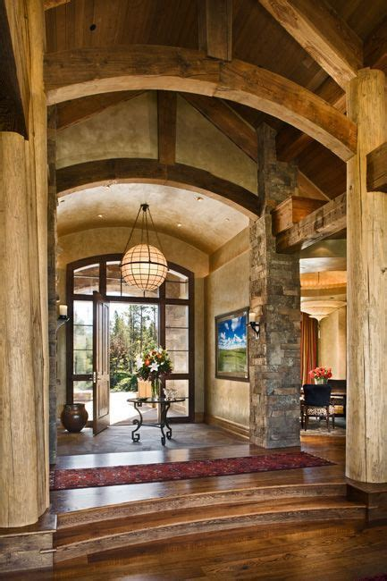 like the barrell ceiling in foyer w recessed lighting like