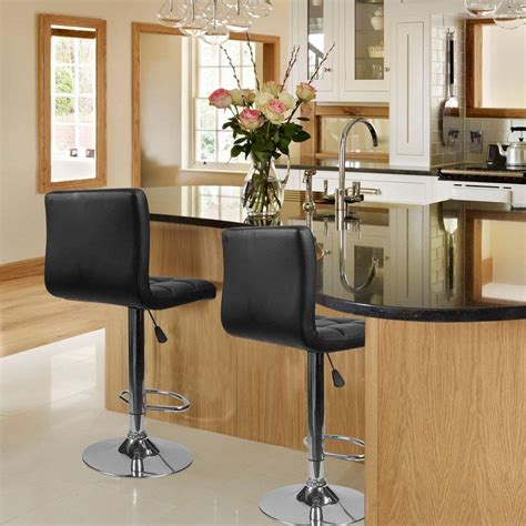 Classic café walnut bar & counter stools. Homall Modern PU Leather Adjustable Swivel Barstools ...