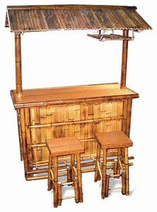 bamboo tiki bar set tropical outdoor pub and bistro With tropical home bar furniture