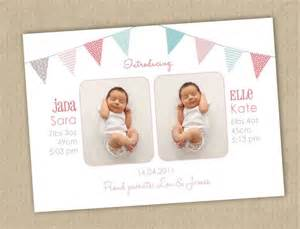 twin birth announcements photo cards 21 best images about invitation ideas on pinterest twins