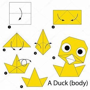 Paso A Paso Las Instrucciones De C U00f3mo Hacer Origami A Pato