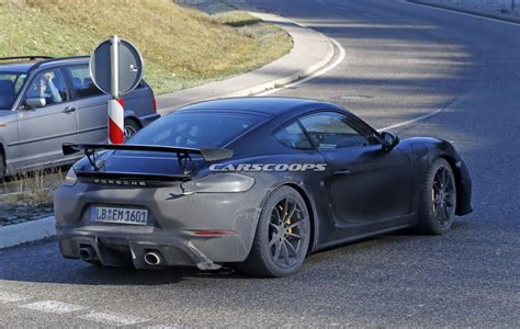 new porsche new porsche 718 cayman gt4 comes out with hardly any camo