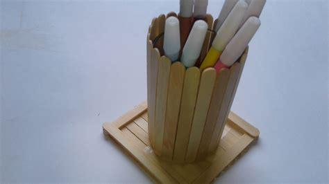 tempat pensil cantik dari stik es krim