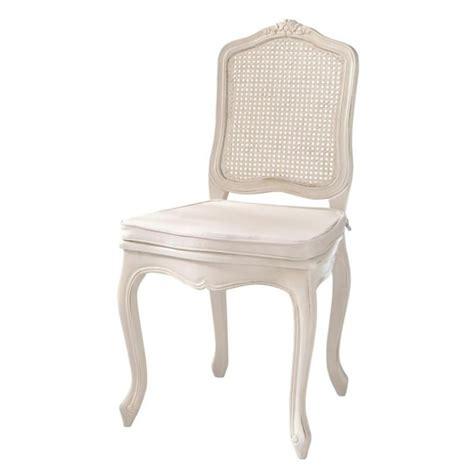 chaises maisons du monde chaise cannée en bois ivoire gustavia maisons du monde