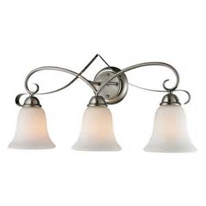 titan lighting brighton 3 light brushed nickel wall mount