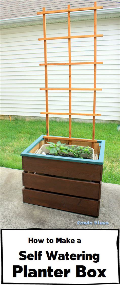 how to make planters condo blues how to make a self watering planter box