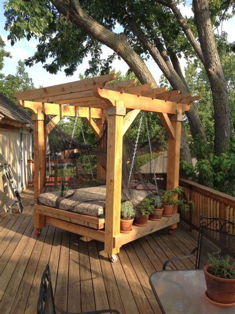outdoor patio bed 18 restful outdoor swinging bed designs