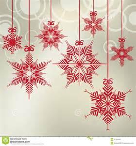 hanging christmas snowflakes royalty free stock image