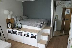 1001 idees comment amenager une petite chambre mini espaces With agencer une petite chambre