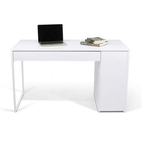bureaux meubles et rangements temahome prado bureau blanc mat avec 1 tiroir et 1 caisson