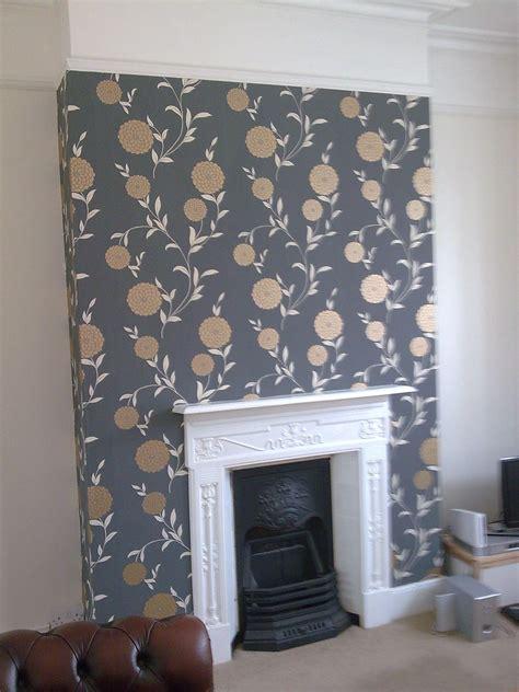 stunning feature chimney breast wallpaper wallpaper